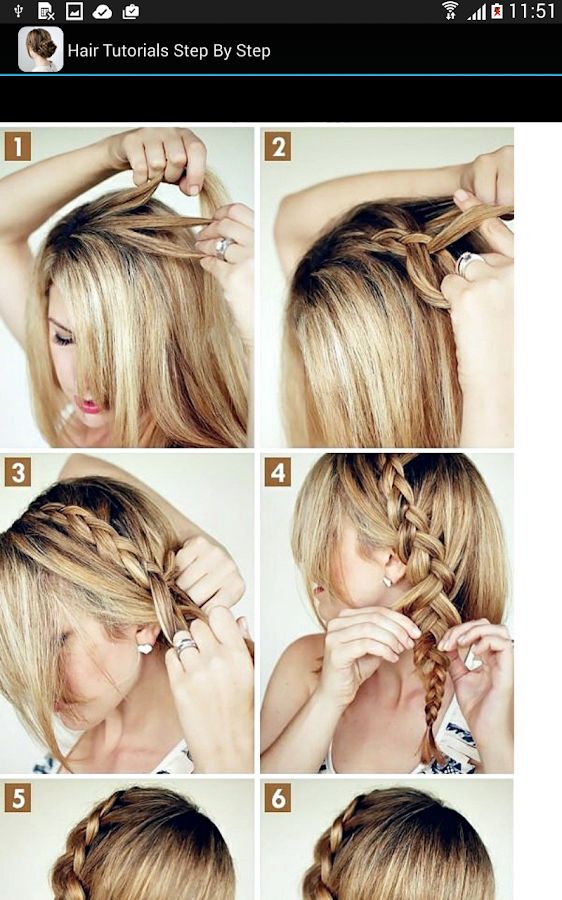Peachy Hair Tutorials Step By Step Android Apps On Google Play Short Hairstyles Gunalazisus