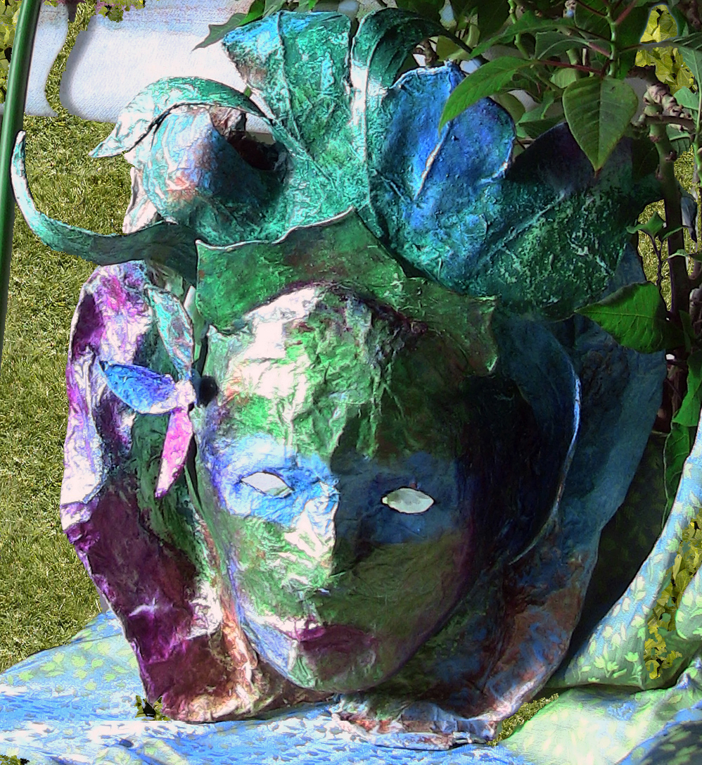 Rubies In Crystal Quot Green Goddess Quot Papier M 226 Ch 233 Masque