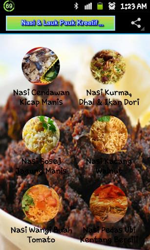 Nasi Dan Lauk-Pauk Kreatif