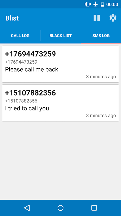 Blist - Block calls and texts- screenshot