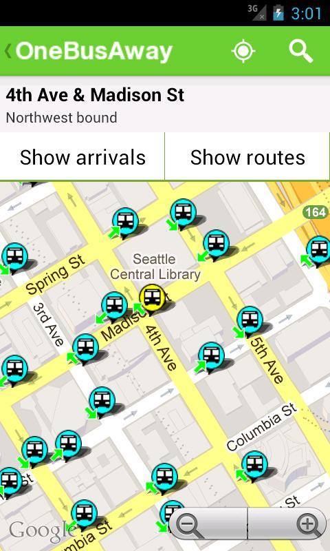 OneBusAway- screenshot