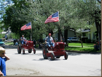 Tractors and our Flag