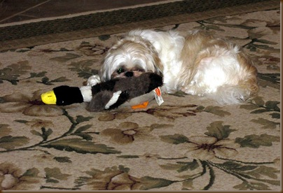 Mom she has my duck