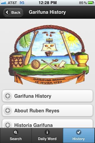 Garifuna-English-Spanish- screenshot
