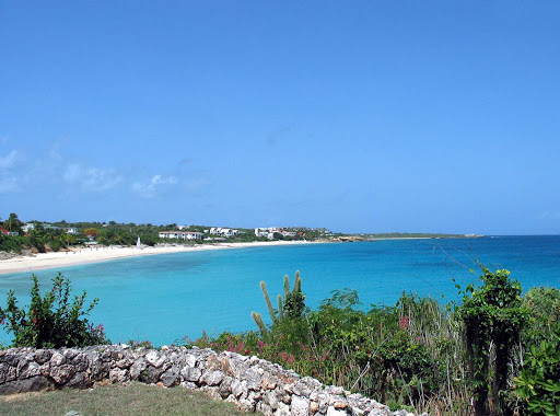 Anguilla-coastline - The azure coastline of Anguilla.