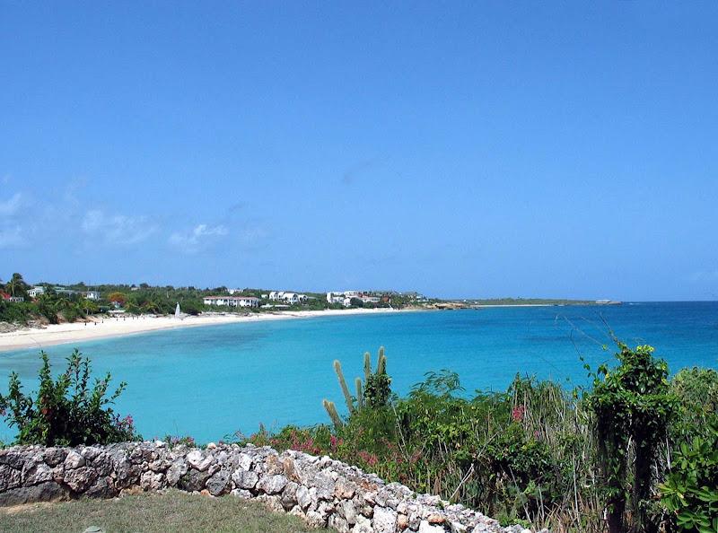 The azure coastline of Anguilla.