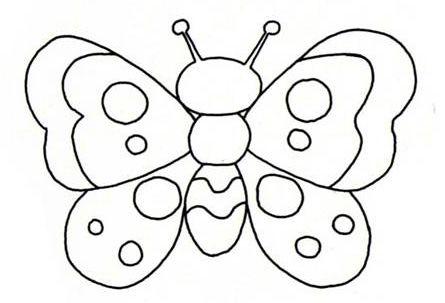 Dibujos De Mariposas Para Colorear Para Ninos
