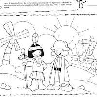 Dibujos De Dia De La Hispanidad Para Pintar