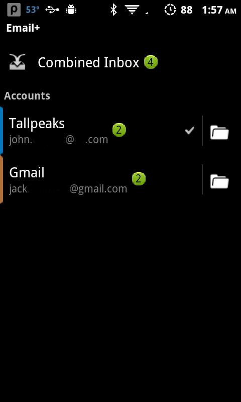 Email+ (Exchange)- screenshot