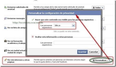 Configurar cuadro Facebook