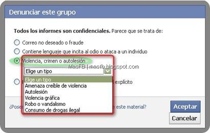 Denunciar Violencia Facebook
