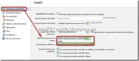 Filtro de Spam Facebook