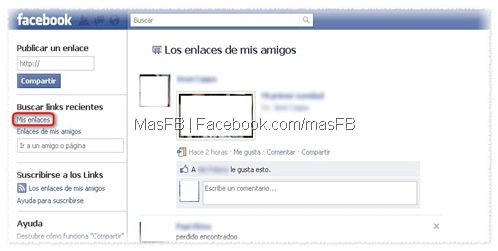 Mis Enlaces en Facebook | MasFB