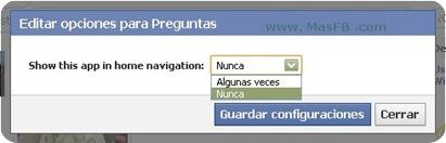 Opciones de Preguntas Facebook