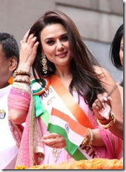 Preity Zinta at India day parade