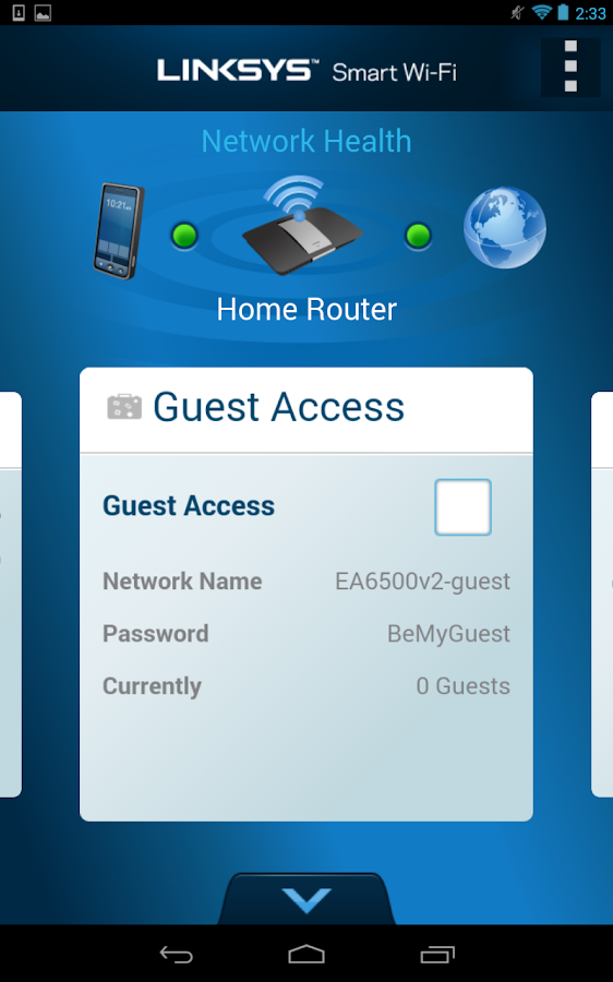 android app for hooking up linksys