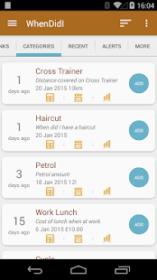 WhenDidI - Event Tracker- screenshot thumbnail