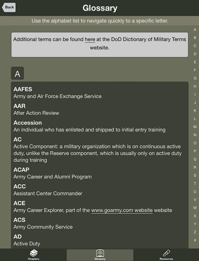 USAREC Family Strong Guide - screenshot