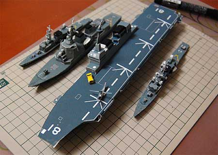 DDH-181 Hyuga Class Helicopter Destroyer Papercraft