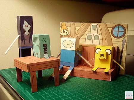Adventure Time Tree House Papercraft