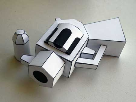 Revolver Paper Toy