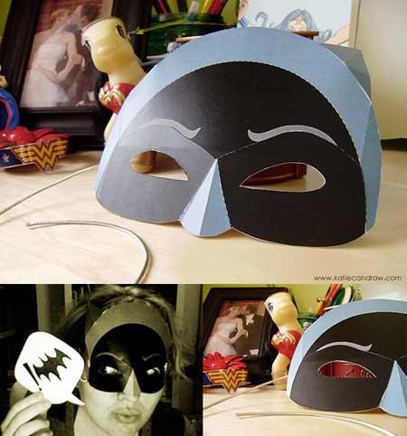 Adam West Batman Papercraft Mask