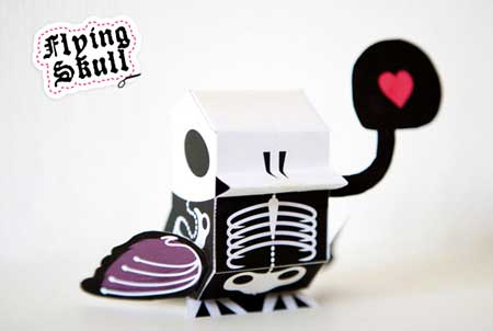 NaniBird Paper Toy Flying Skull