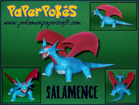 Pokemon Salamence Papercraft