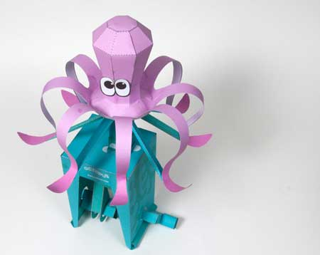 Moving Octopus Papercraft