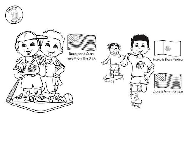 Niños De Paises Para Pintar: NIÑOS DEL MUNDO PARA COLOREAR