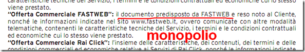 monopolio fastweb