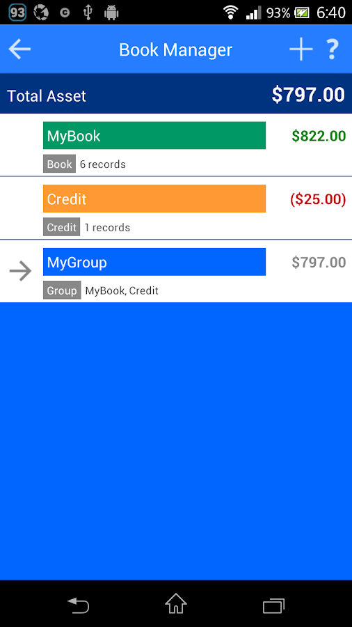 Spendroid - Finance Manager- screenshot