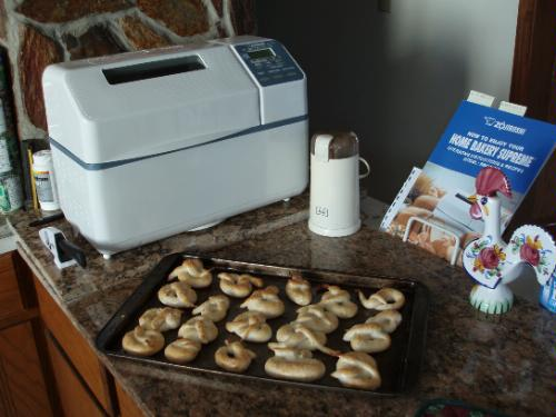 Placed nicely on kitchen counter - Zojirushi bread maker