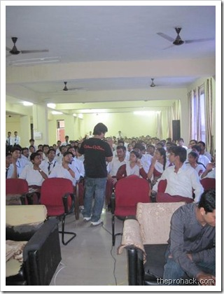 The students were eager :) - theprohack.com