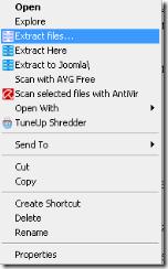 Gambar Extract file Joomla