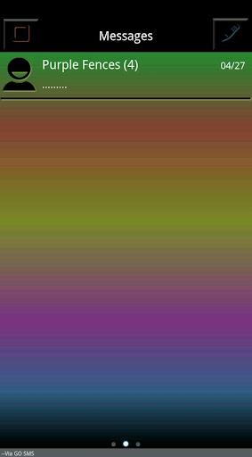 Dark Rainbow Go SMS Theme