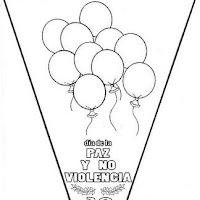 Banderines De La Paz Y No Violencia Colorear La Paz