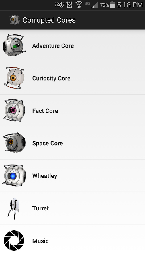Portal 2 Cores Soundboard - screenshot
