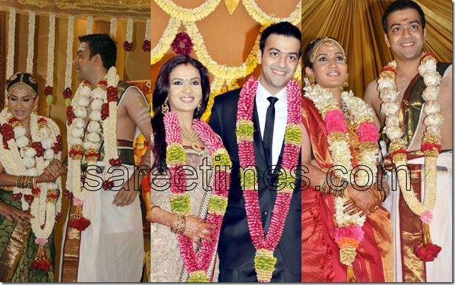 Soundarya Rajinikanth Wedding Saris