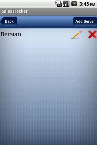Bersian Sales Tracker- screenshot