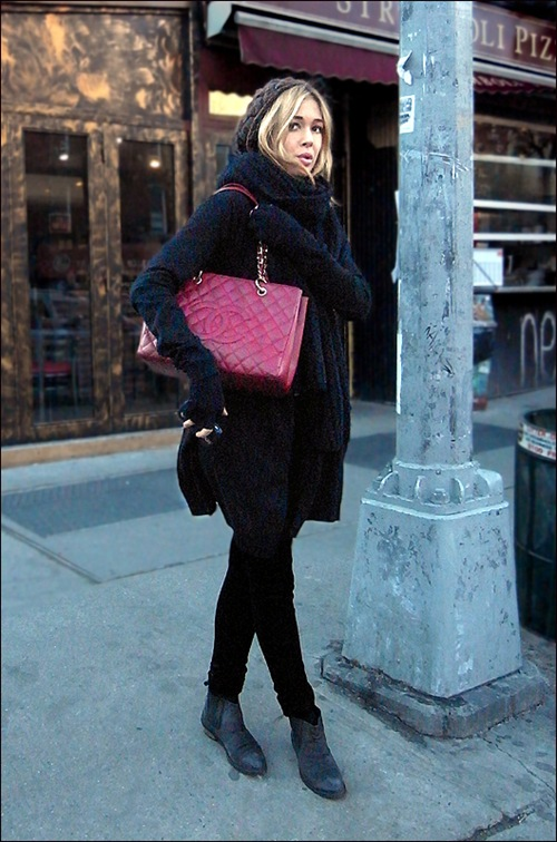 w all black burgundy chanel bag