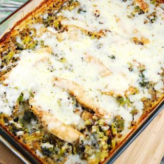 Chicken, Broccoli, Quinoa Casserole.