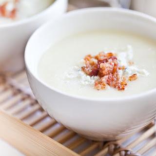 Creamy Cauliflower Soup with Bacon and Gorgonzola.