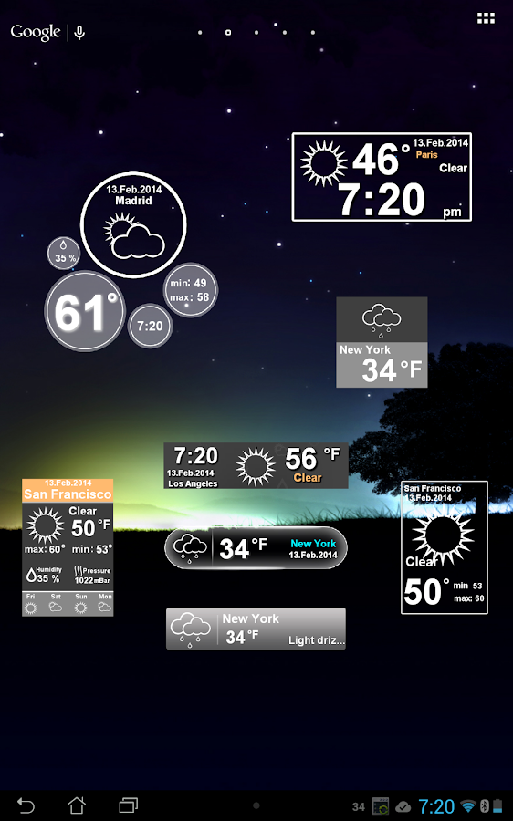 Weather Clock - screenshot