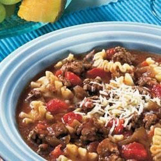 Hearty Lasagna Soup.