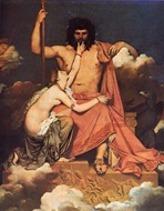 Ingres, Tetis implorando a Zeus