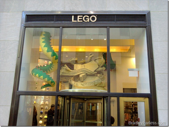 The LEGO store at Rockefeller Center in New York City.