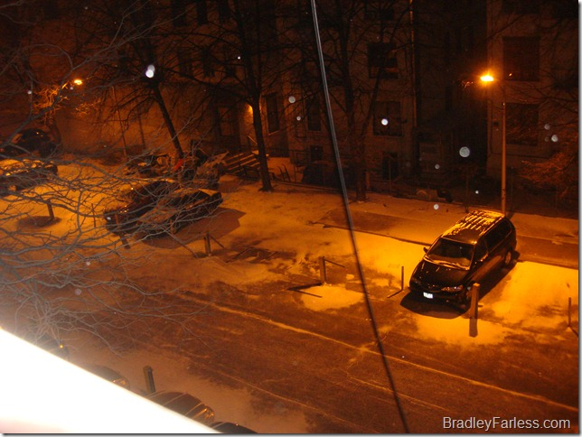First snow in Manhattan, Winter 2010.