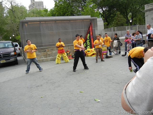 A martial arts display at Union Square Park during the Annual Asian Culture celebration, 2011.