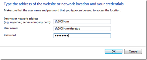 """How To """"Remember My Password"""" with TFS 2010"""